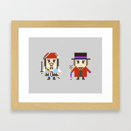 Digital Jack Sparrow and Willy Wonka Framed Art Print