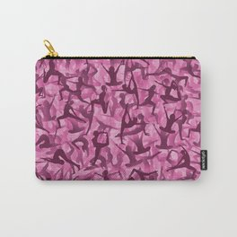 Pink yoga camouflage Carry-All Pouch