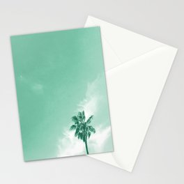 Sunset in Green Stationery Cards