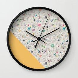 Pez Otomi yellow by Ana Kane Wall Clock
