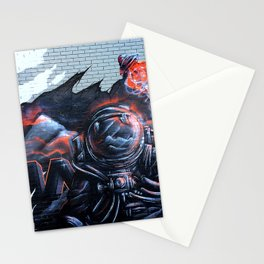 Astronaut Mural Royal Stain Stationery Cards