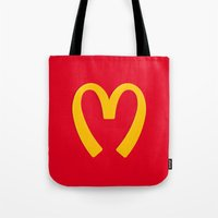 moschino Tote Bags featuring Moschino McDonald's Inspired Logo by V.F.Store