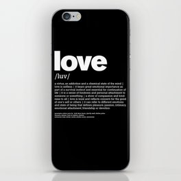 Define LOVE w/b iPhone Skin