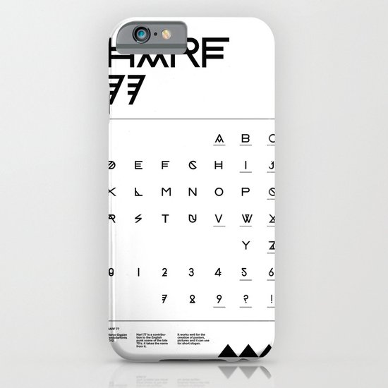 Harf 77 Poster (White) iPhone & iPod Case