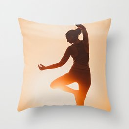 Fine art print / Photograpy of Yoga relaxation, meditation en stress release  Throw Pillow