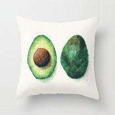 Avocado Split Throw Pillow