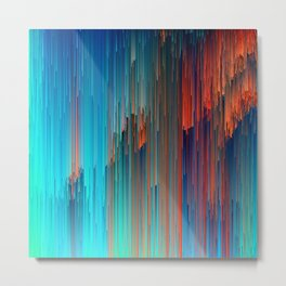 All About Us - Abstract Glitch Pixel Art Metal Print