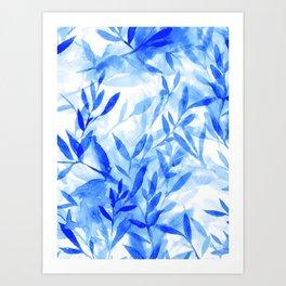 Changes Blue Art Print