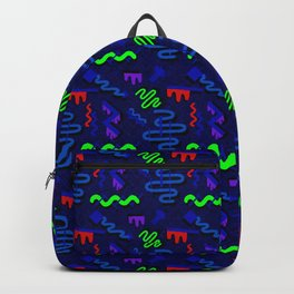 Drippy Geometric 90's Pattern Backpack