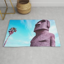 Japan's Easter Islands in Miyazaki  Moai Statues Rug