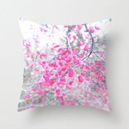 rose berries Throw Pillow