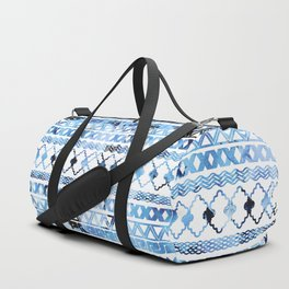 Watercolor creative black blush blue geometrical aztec Duffle Bag