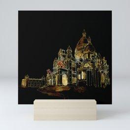 Paris Basilica Sacre Coeur at Night Mini Art Print