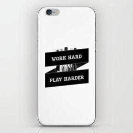 Work Hard, Play Harder iPhone Skin