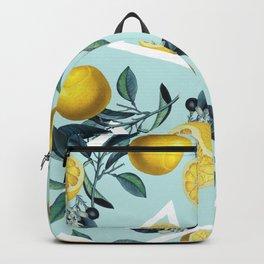 Geometric and Lemon pattern III Backpack