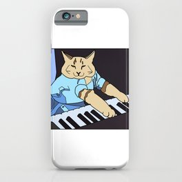 The piano cat meme iPhone Case