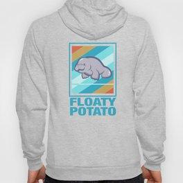 Manatee Retro Vintage Save The Floaty Potatoes design Gift Hoody
