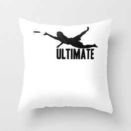 Ultimate T-Shirt I Gift Disc Sport Jersey   Throw Pillow