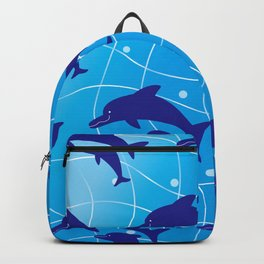 Parent-child of dolphin on the Wave_F Backpack