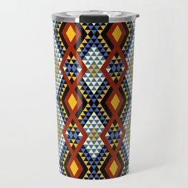 Aztec rhombus triangles red yellow blue Travel Mug