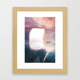 In the plane Framed Art Print