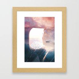 In the plane Framed Art Print