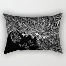Oslo Black Map Rectangular Pillow