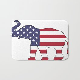 "Elephant ""American Flag"" Bath Mat"
