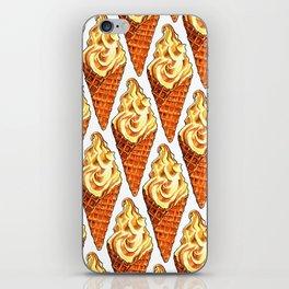 Vanilla Soft Serve Pattern iPhone Skin