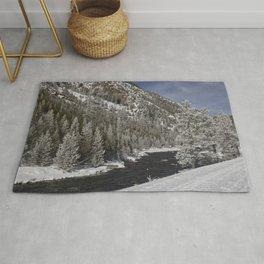 Carol Highsmith - Snow Covered Conifers Rug