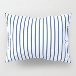 Delphinium Blue Pinstripe on White Pillow Sham
