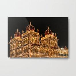 Mysore Palace on Dasara Metal Print