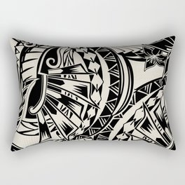 Hawaiian - Samoan - Polynesian Tribal Tattoos Rectangular Pillow