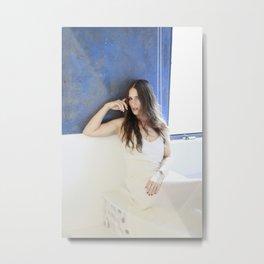Sky Blue Woman Metal Print