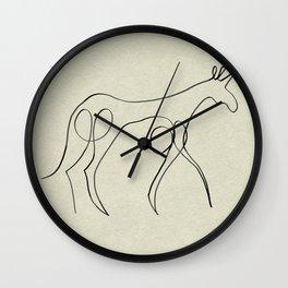 Continuous Line Unicorn Wall Clock