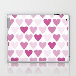 Cute heart seamless vector pattern in pink Laptop & iPad Skin