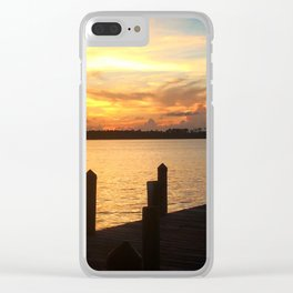 Dockside Dreaming Clear iPhone Case