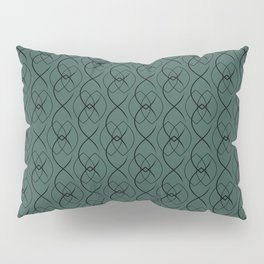 Blue Forest Wall with Navy Ovals Pillow Sham