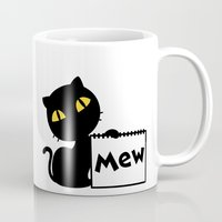mew Mugs featuring Mew by Tem's House