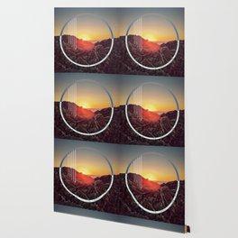 Peel sunset - circle graphic ll Wallpaper