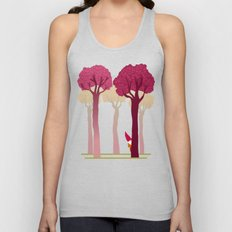 colorful forest with cute dwarf Unisex Tank Top