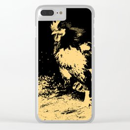 Rooster orange tint 2 Clear iPhone Case