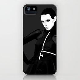 black & little white iPhone Case