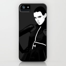 black & little white iPhone Case