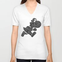 yoshi V-neck T-shirts featuring Yoshi by Martina Erives50