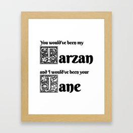 Tarzan & Jane Framed Art Print