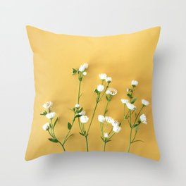 Yellow summer | Flower Photography Throw Pillow
