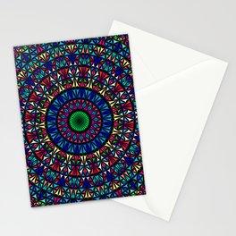 Colorful Church Window Mandala Stationery Cards