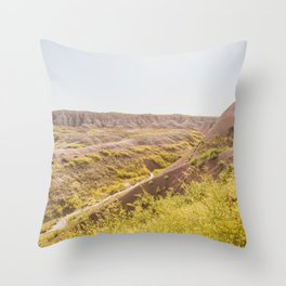 In Nature - Badlands Landscape Photography Throw Pillow