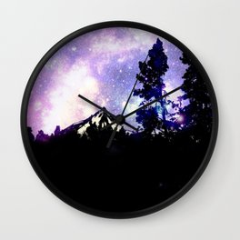 Mount Hood Under the Galaxy Wall Clock